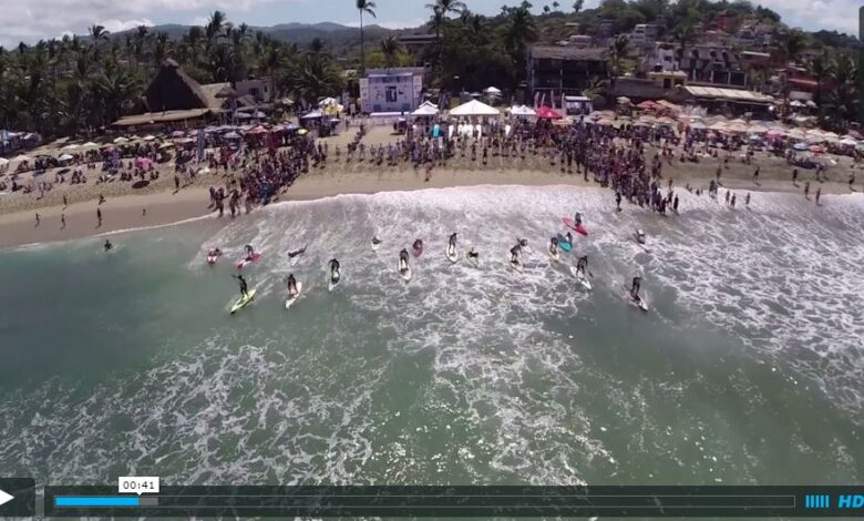 Drone e Stand Up Paddle no Punta Sayulita Elite Race