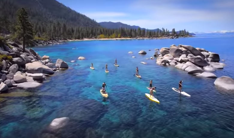 Stand Up Paddle no lago Tahoe